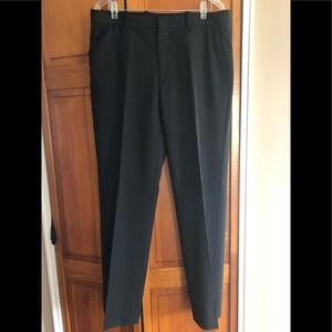 Men pants black color with small gray stripes